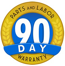 90 day parts and labor warranty